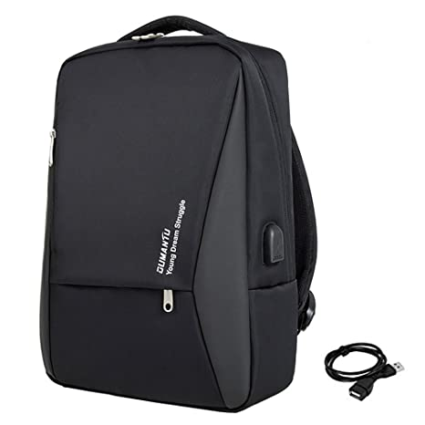 "Mochila Ordenador Portatil 14""-15"" USB Puerto Negocios Impermeable Laptop Backpack para Trabajo"