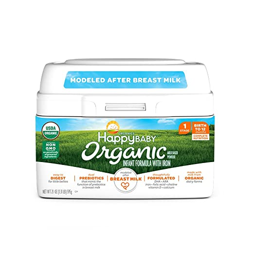 Happy Baby Organic Infant Formula Milk Based Powder with Iron Stage 1