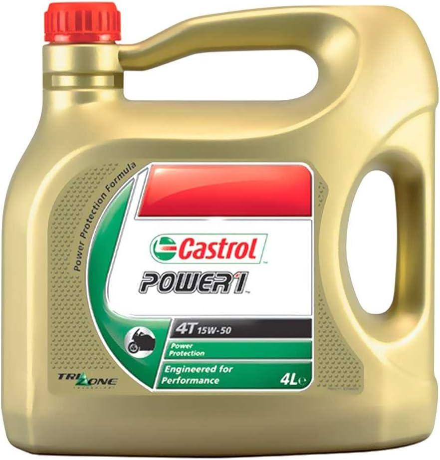 Castrol aceite 15w50 4T 4L HC-Syn P1 7140089/7140027