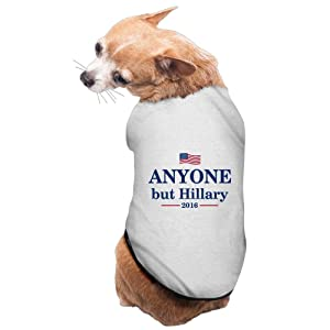 Lovely Pet Supplies Anyone But Hillary 2016 Anti-Hillary Dogs Coats