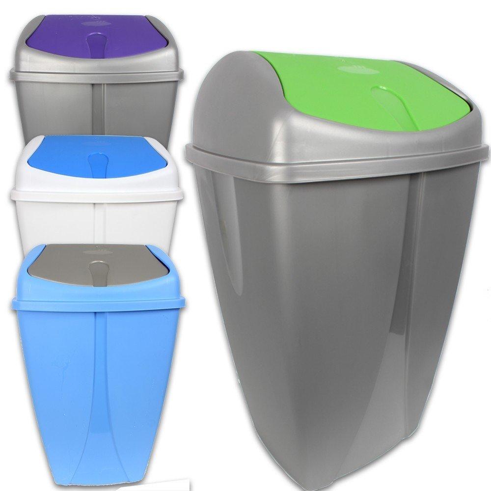 50L Mülleimer Mülltonne Mülltrenner Abfalltonne Abfalleimer Papierkorb Küche NEU