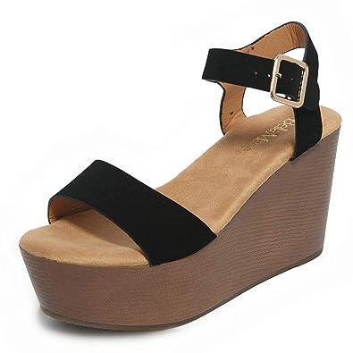 0c37842d04b shoewhatever Womens hiddenheel Single Strap Flatform Pumped up Sandals