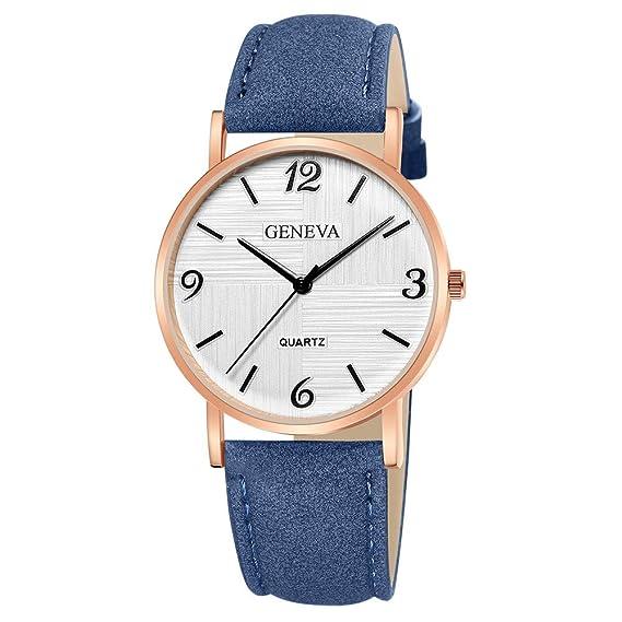 42dfe28b2 Darringls_Reloj Geneva,Reloj de Pulsera de Cuarzo de Cuero analógico de  Diamantes de Mujer Relojes Mujer Pulsera Regalo para Novia: Amazon.es: Ropa  y ...
