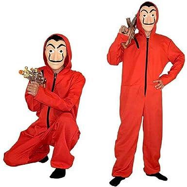 La Casa de Papel la casa de Papel Cosplay Mask Overalls Halloween ...