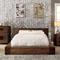 247SHOPATHOME Idf-7628Q Platform-Beds, Queen, Walnut
