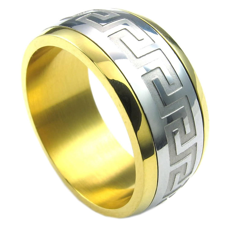 ISADY Mateo Herren Ring 585er 14K Gold platiert Franc
