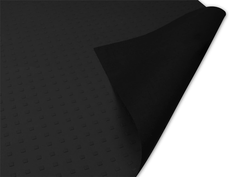 normani Antirutschmatte Rutschhemmende Matte fü r Transporter, PKW oder LKW 158 x 120 cm, Strukturprä gung auf der Front, extrem robust und strapazierfä hig extrem robust und strapazierfä hig Farbe Schwarz
