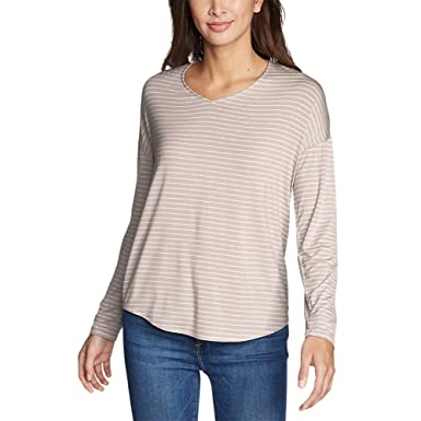 992edbff7d15 Eddie Bauer Women's Celestial Long-Sleeve V-Neck T-Shirt at Amazon Women's  Clothing store: