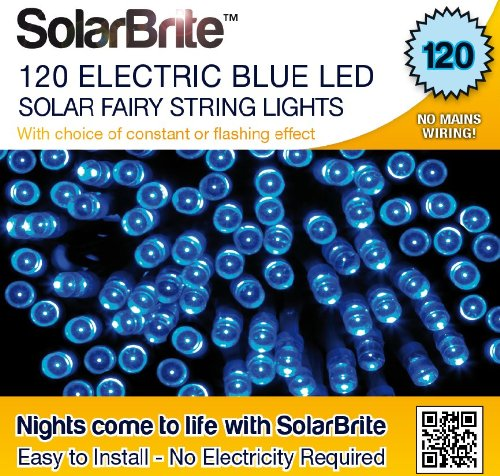Solar 100 Super Bright Blue Led Lights
