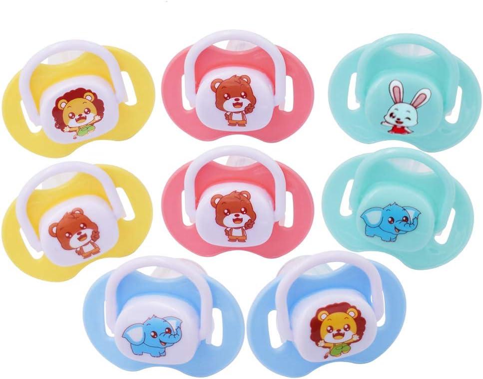 Chupetes Silicona - WENTS Pack de 8 Sin BPA Chupete Nocturno Calmantes de Médica de 0 a 18 Meses Niño (Tipo de Pulgar/Pezón): Amazon.es: Bebé