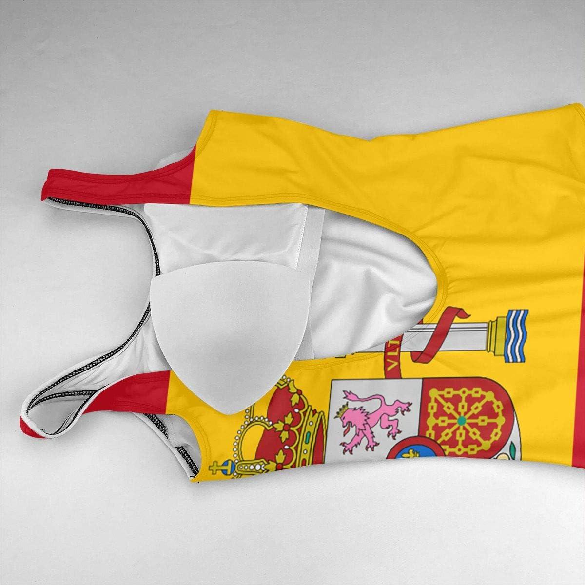 HZWMKJ Traje de baño de una Pieza con la Bandera de España y Monokini Sexy de Verano para Playa: Amazon.es: Jardín