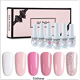 Vishine 6Pcs Soak Off LED UV Gel Nail Polish Varnish Nail Art Starter Kit Beauty Manicure Collection Set C001