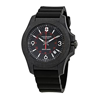 Victorinox I.N.O.X. Carbon Black Dial Mens Rubber Watch 241777