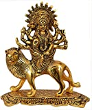 Nexplora Industries Durga Maa Hindu Goddess Religious Metal Statue Idol Sculpture Lucky Figurine House Warming Gift Home Decor Puja/Pooja Item (Height 20 CM)