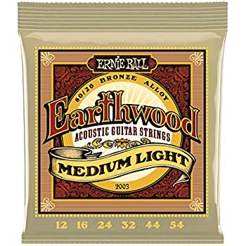 Amazon Com Ernie Ball Earthwood Medium Light 80 20 Bronze