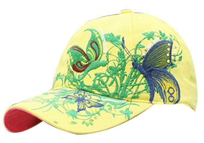 Belsen ragazze farfalla paillettes principessa Cap Baseball Cappelli  (bambino giallo) 2302d9cfc505