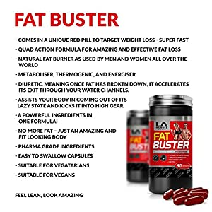 LA Muscle Fat Buster; Amazing Quad-Action Natural & 100% Safe Fat Burner And Weight Loss…