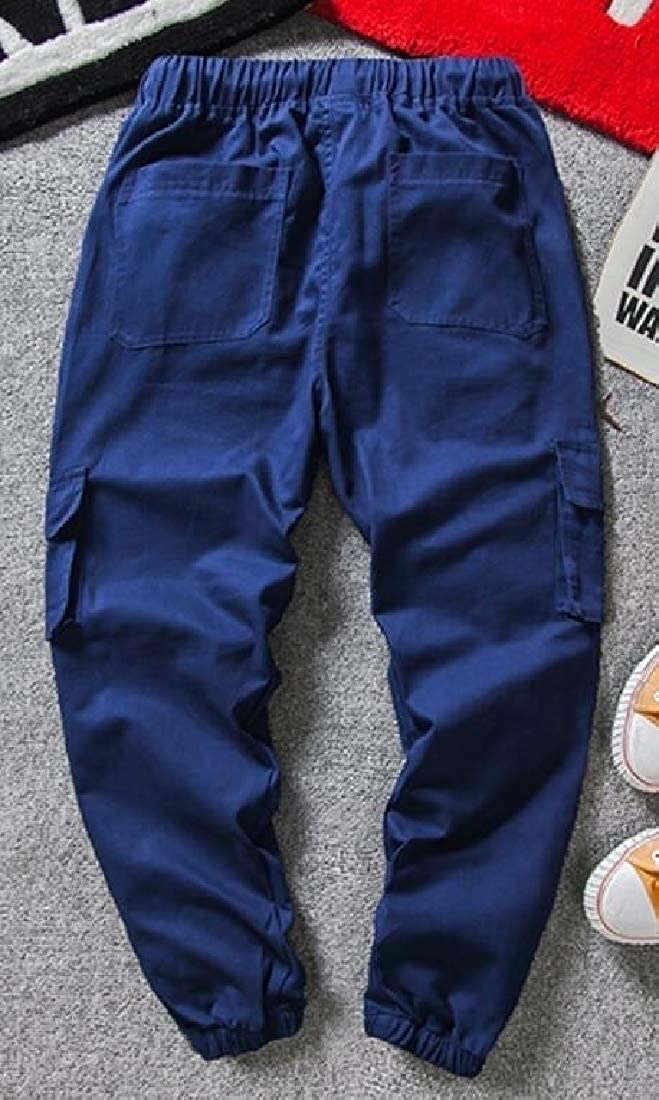WSPLYSPJY Fashion Mens High Waist Thicken Warm Relaxed Fit Cargo Pant