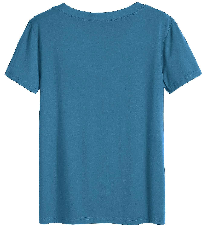 Latuza Womens V-Neck Sleepwear Short Sleeve Pajama Set