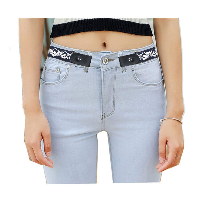 Dangel Bucklefree Elastic Belt for Women Men Stretch Belt for Jeans Pants Up to 52