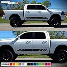 2x Decal Sticker Graphic Side Mountain Stripes Compatible with Dodge Ram 2009-2017 1500 2500