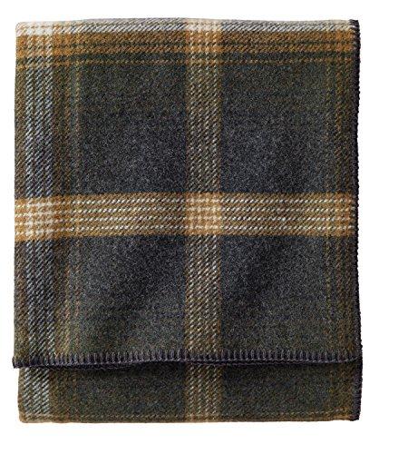Pendleton - Eco-Wise Washable Wool Blanket, Oxford Plaid, Twin