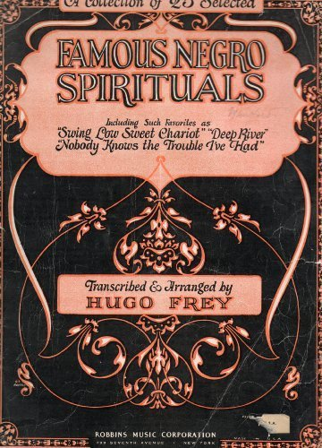 Vintage Songbook Cover - Vintage Cover to a Song Book: A COLLECTION OF 25 SELECTED FAMOUS NEGRO SPIRITUALS, TRANSCRIBED & ARRANGED BY HUGO PREY (no book, just the cover), Robbins Music Corporation