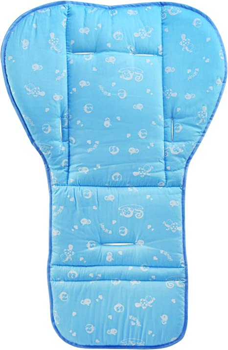 BelleStyle Colchonetas para silla de paseo, Universal Colchoneta Silla Colchoneta Suave Transpirable bebé algodón puro cochecito asiento maletero bebé recién Nacido cojín (Azul): Amazon.es: Bebé