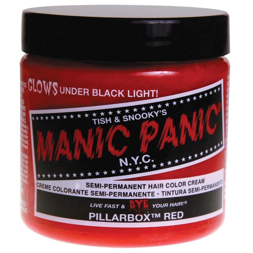 Manic Panic Pillarbox Red Cream Formula Semi-Permanent Hair Color Dye 40z