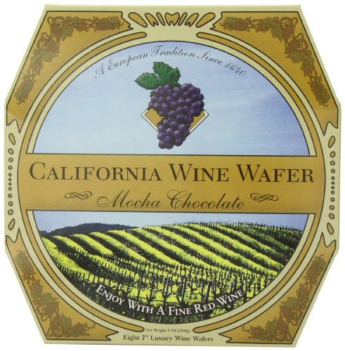 California Wine Wafer, Mocha Chocolate, 7-Ounce Boxes (Pack of 3)
