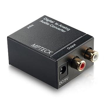 Convertidor digital de audio analógico coaxial óptico Toslink RCA R/L