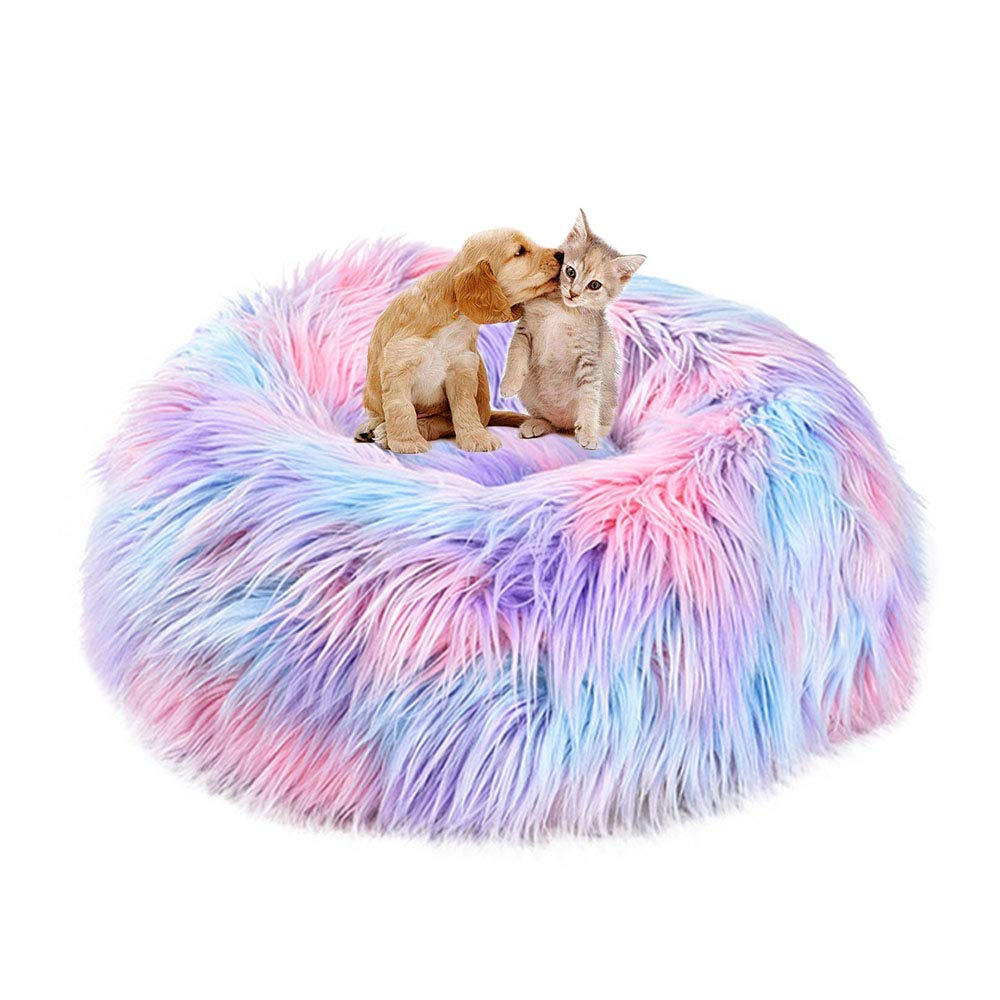 UTOPIAY Dog Bed, Cat Donut Cuddler Nest Rainbow Pet Bed, Decorations, 50cm by UTOPIAY