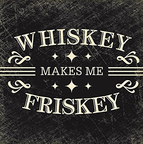Gifted Living 4NC2144 Whiskey Makes Me Frisky Paper Cocktail Napkins, Multicolored
