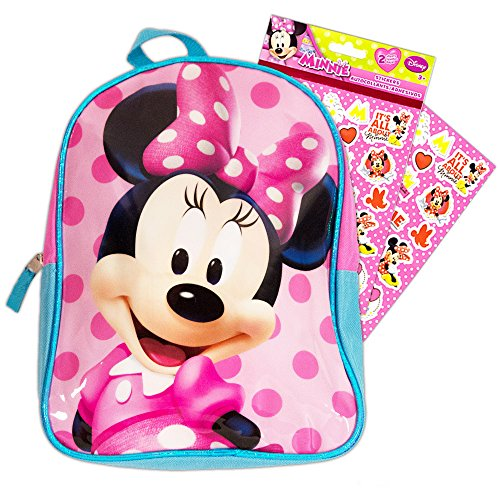 Disney Toddler Preschool Backpack 10 inch Mini Backpack (Minnie with Stickers)