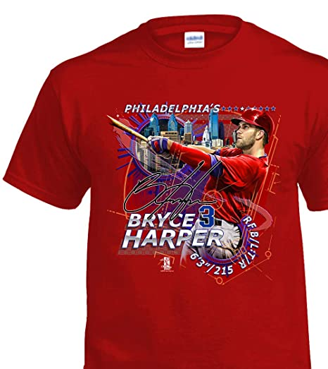 detailed look 95302 77732 Fans Only Philly's Bryce Harper T-Shirt