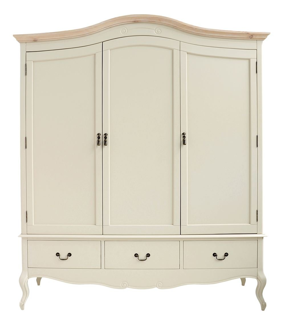Juliette Shabby Chic Champagne Triple Wardrobe Stunning Large 3