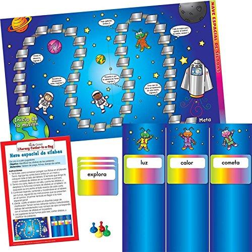 Really Good Stuff Syllable Spaceship Game -Spanish -Nave Espacial De Silabas