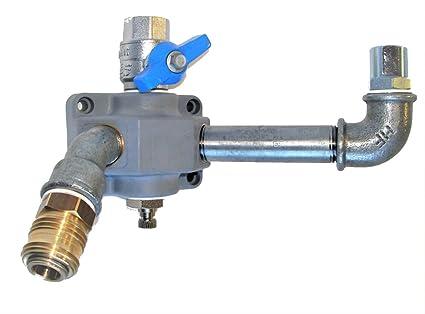 KDT relleno Conector FV 12 de AV, impresión de aire pared lata inflador de neumáticos