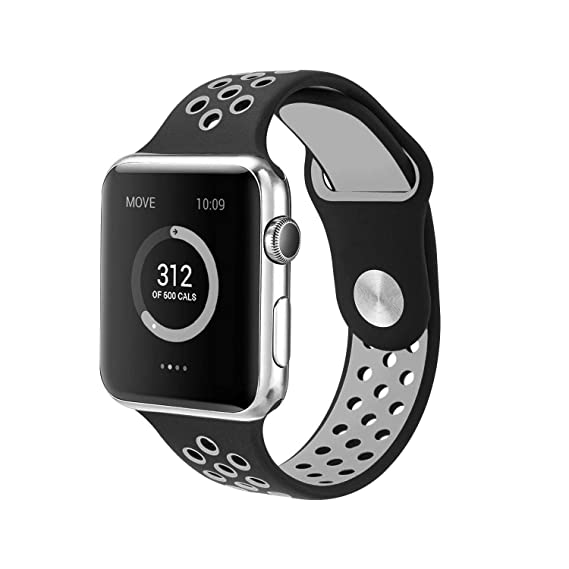 Reloj Band 42mm Series 1/2, Vaxiuja Sport Watch para Apple iWatch Correa de