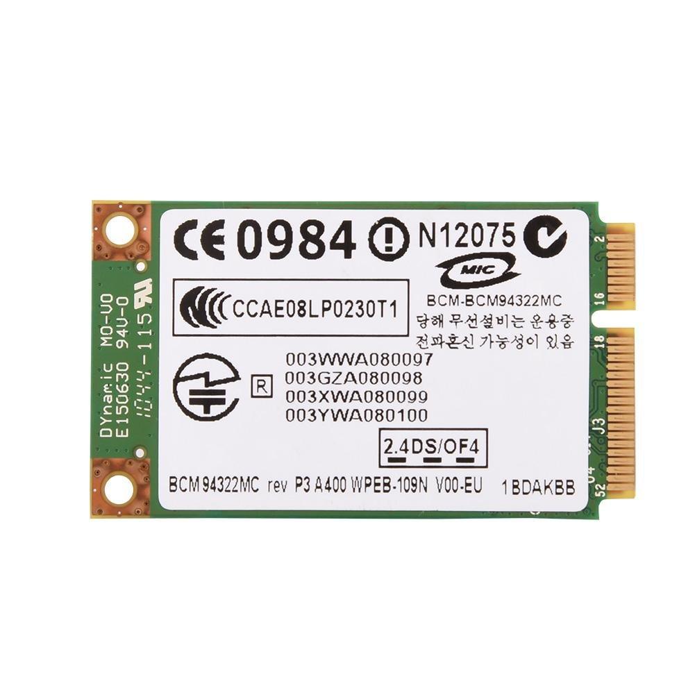 Scheda PCI-E WiFi, Scheda Mini PCI-E WLAN Dual-Band a 2,4GHz + 5GHz, Scheda WLAN Wireless 802.11A / G/N 300Mbps per HP/Mac/dell/Acer, ECC.