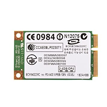 Vbestlife Mini Tarjeta de Red Inalámbrica Profesional 2.4G + 5G de Doble Banda PCI-E WiFi para HP/Mac/DELL/Acer