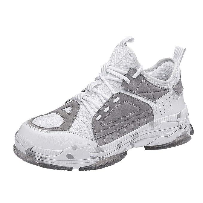 ZODOF Moda Informal Zapatos Hombres Tendencia Fly Weave Respirable con Ligereza Zapatillas De Deporte: Amazon.es: Ropa y accesorios