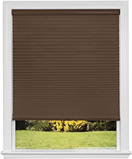 product image for Artisan Select No Tools Custom Cordless Cellular Blackout Shades, Mocha, 40 1/4 in x 72 in