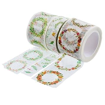 souarts gelb grün Blumen Muster Papier Masker Klebeband für ...