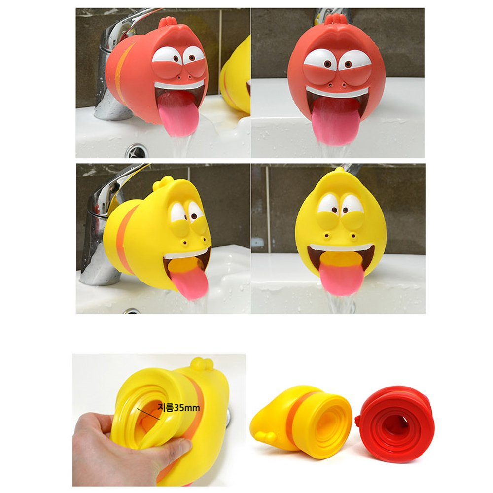 Larva Funny Character Faucet Cover, Safety Faucet Extender For Children Toddler Kids (Red) by Larva (Image #2)