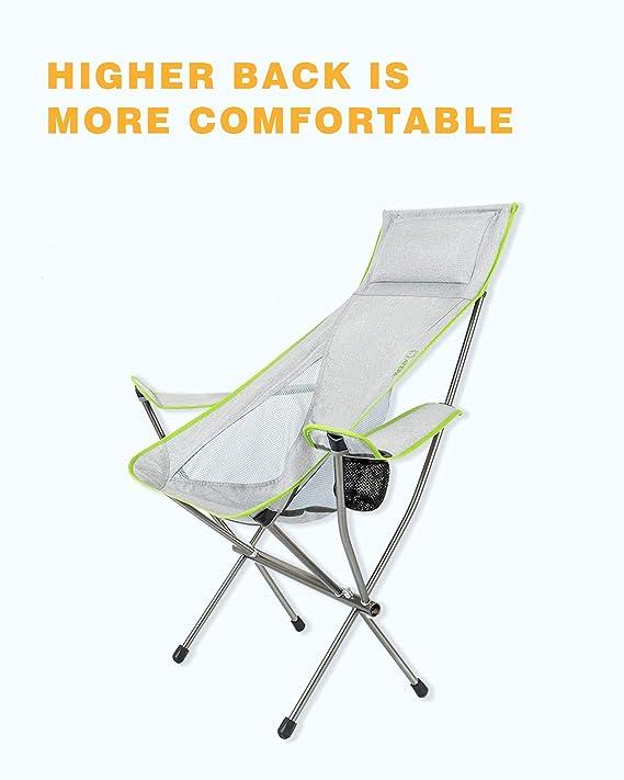 Amazon.com: ATEPA Silla de camping plegable ultraligera de ...
