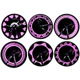 Glumes Bike Wheel Lights, LED IP55 Waterproof Bicycle Spoke Light 7-LED 15 Changes Patterns Bicycle Rim Tire Lights for Mountain Bike/Road Bikes/BMX Bike/Hybrid Bike/Folding Bike (Pink)