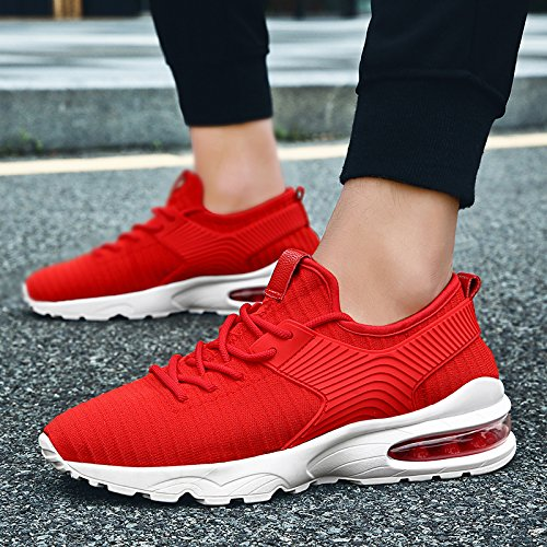 Multisport Tennis Uomo Ginnastica Sneakers Gym Fitness Flyknit red Scarpe da Basse Trainers Outdoor Sportive 02 Running TUCSSON T7wvv