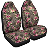 Gnarly Tees Floral Animal Print Car Seat Covers