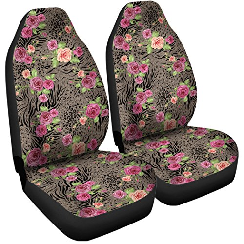 Gnarly Tees Floral Animal Print Car Seat Covers by Gnarly Tees